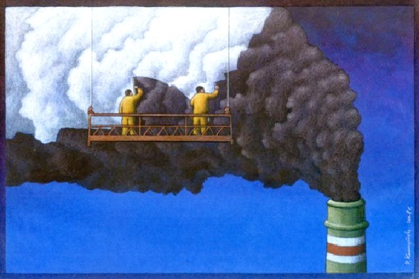 Covering Up Pollutinon-Most Ironic Pictures