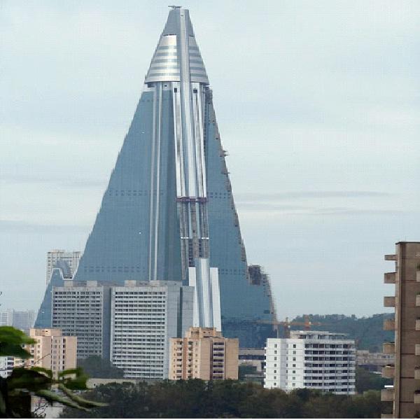 The Ryugyong - North Korea-Amazing Abandoned Mega Structures