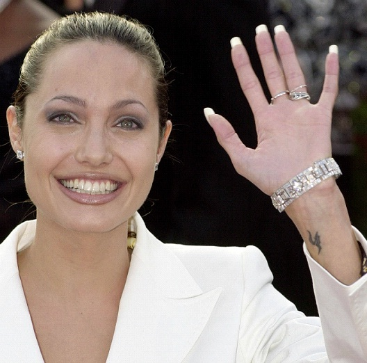 H Tattoo-Angelina Jolie And Her Tattoos