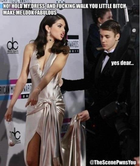 She wears the pants-Best Selena Gomez Memes