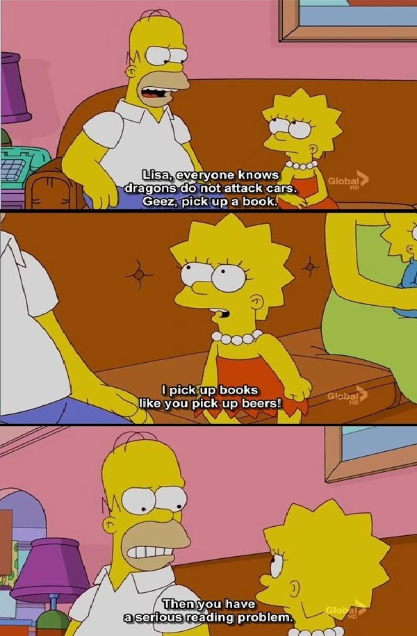 Reading addiction-Best Simpsons Quotes