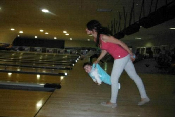 Bowling Baby-Worst Facebook Parent Fails