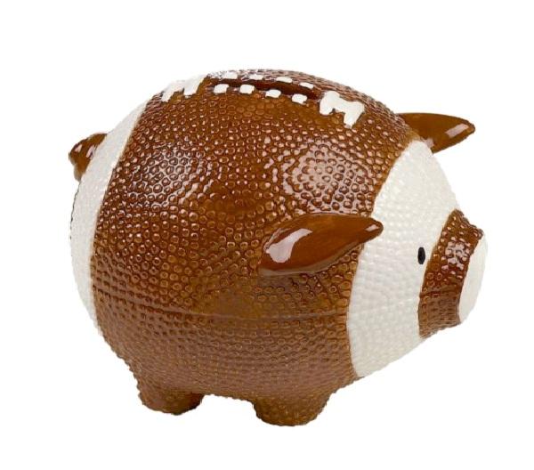 Football bank cool piggy banks for Really cool piggy banks