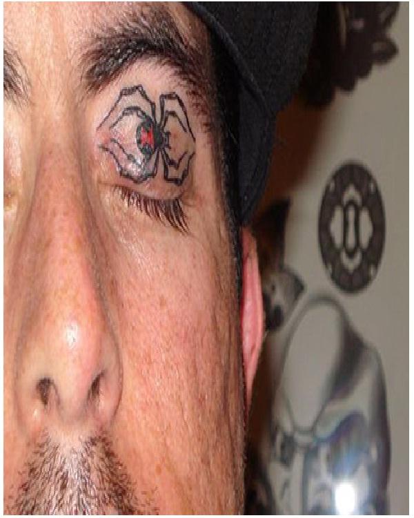 The spider-Weirdest Eyelid Tattoos