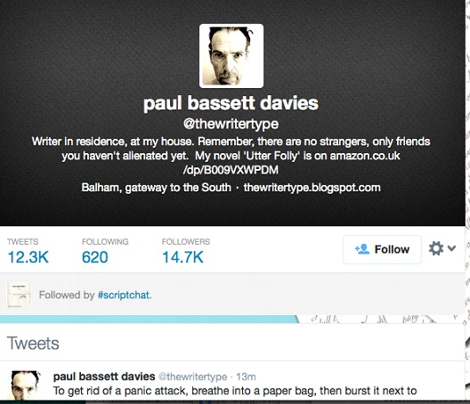 Paul Bassett Davies @thewritertype-12 Funny Twitter Accounts To Follow