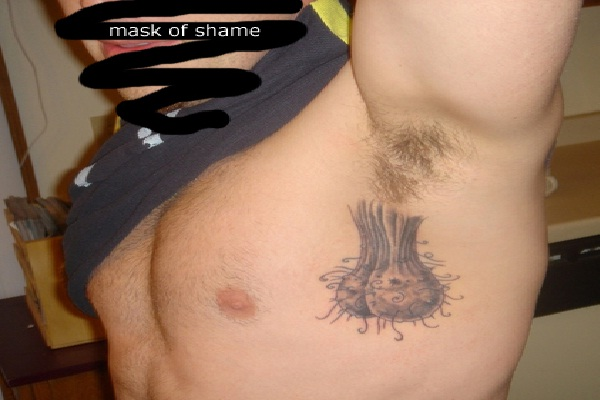 Ah Yes...testicles-Bizarre Armpit Tattoos
