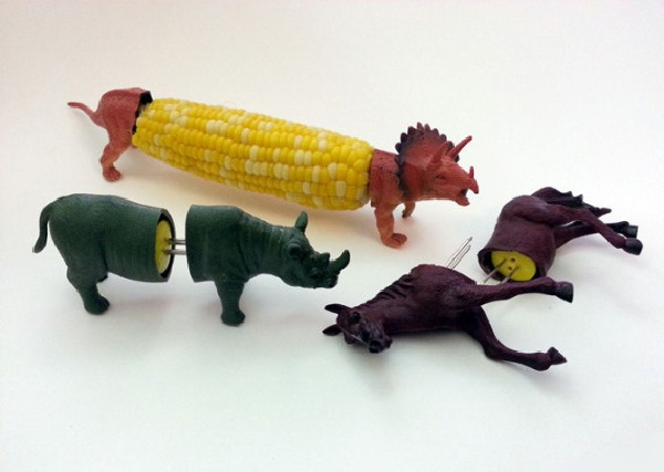 Animal corn-Weirdest Eating Utensils