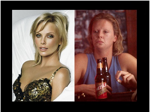 Charlize Theron as Aileen Wuornosin Monster-Celebrities From One Movie Role To Another