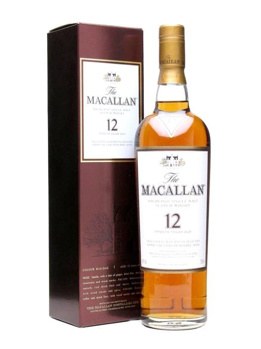 Macallan Single Malt Whiskey - $4,000-Most Expensive Alcoholic Drinks