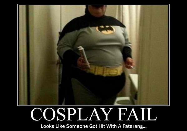 Batman fail-Worst Cosplay Fails