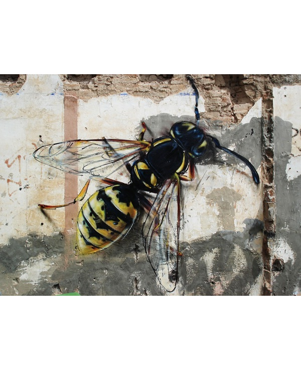 Giant bee-Best Wall 3D Graffiti