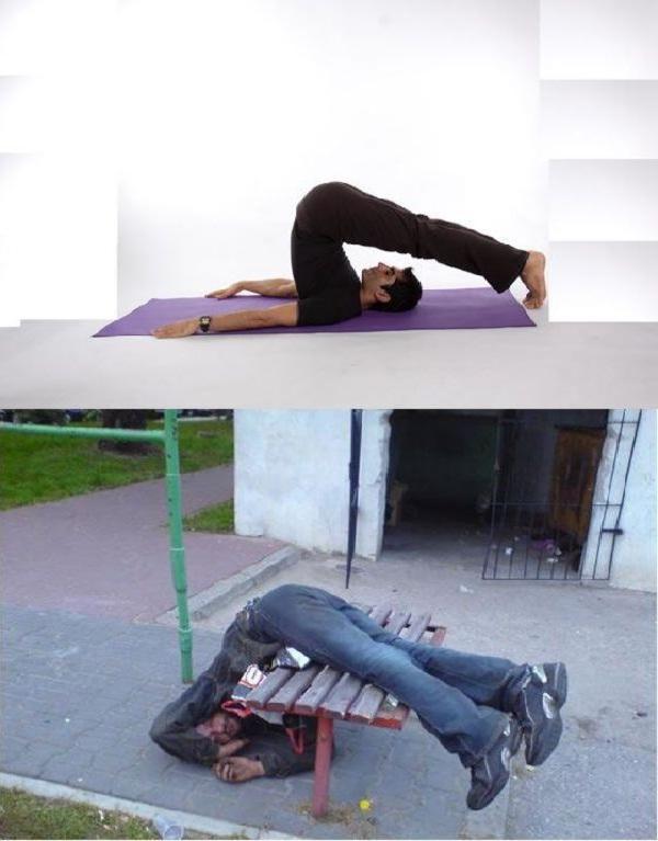 Legs over-Yoga Vs. Drunk Poses