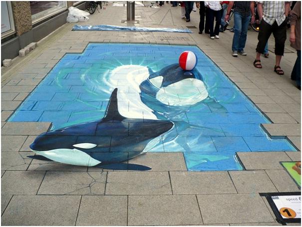 Shamu is Here-Amazing 3D Street Art