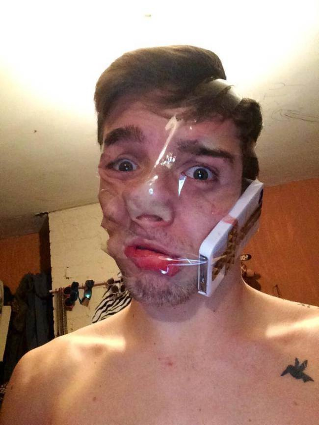 The ultimate hands free-Sellotape Selfies