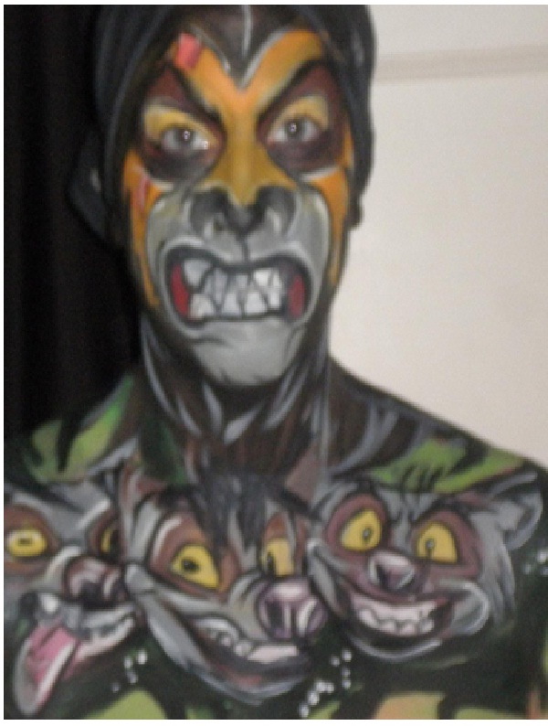 Scar and the Hyenas-Disney Full Body Painting