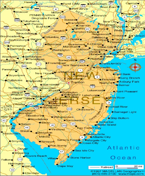 New Jersey - 8,899,339-US States With Highest Population