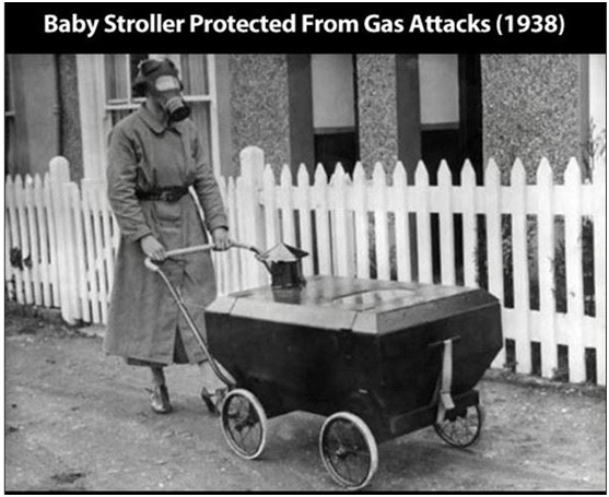 Stroller To Protect Babies from Gas-Strangest Historical Inventions