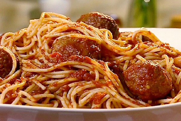 Spaghetti & Meatballs-Christmas Recipes