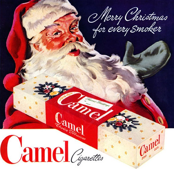 Smoking Santa-Ads That Should Be Banned