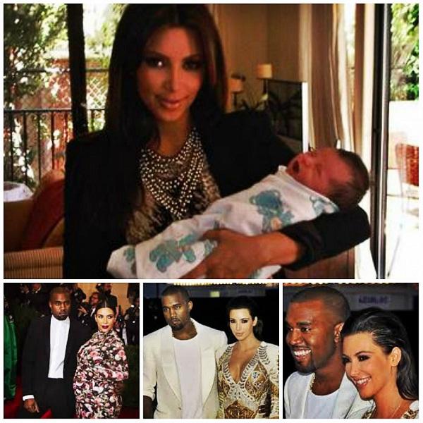 Kim Kardashian-Celebrity Babies Born In 2013