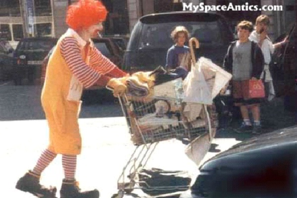Homeless Ronald-Most Inappropriate Ronald McDonalds