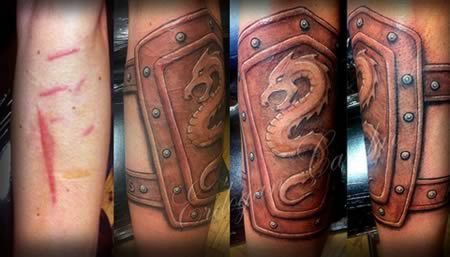 Armor-Best Tattoos To Cover A Scar