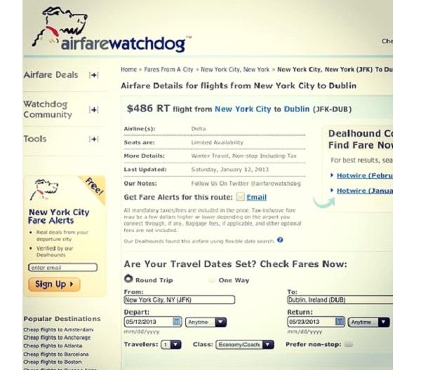 Airfare Watchdog-Best Travel Websites