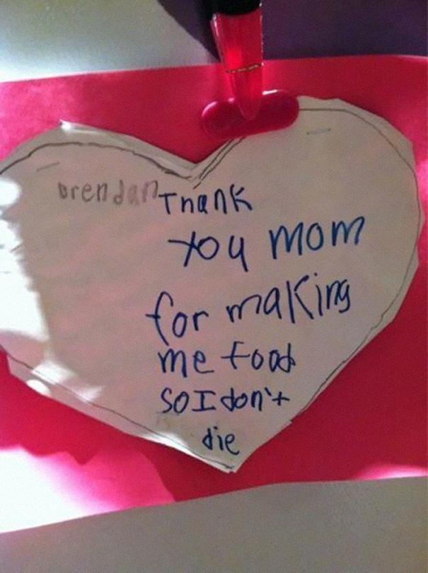 Talk about being grateful-Hilarious And Honest Notes From Kids