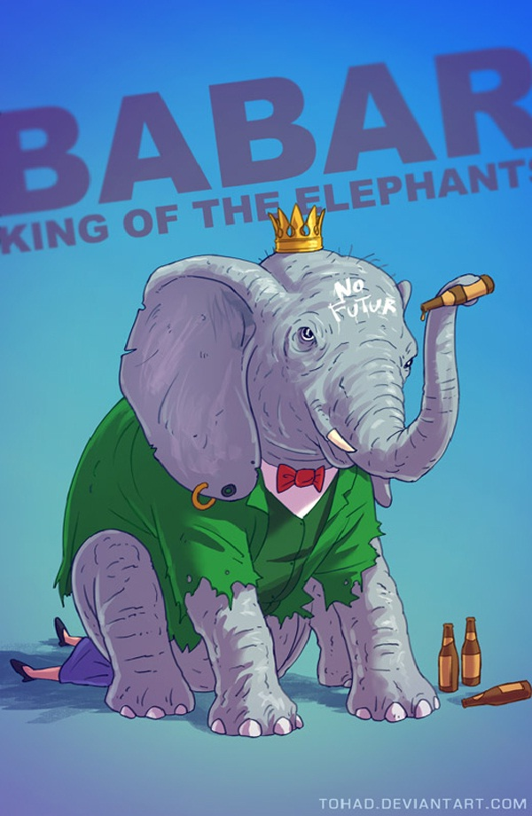 Babar-Bad Versions Of Popular Cartoon Characters