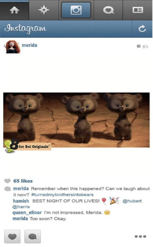 Slightly Annoying Spells-If Disney Princesses Had Instagram