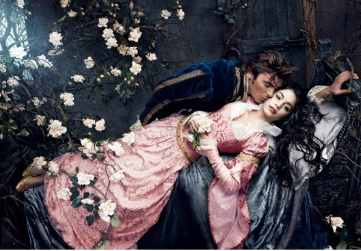 Vanessa Hudgens With Zac Efron As Sleeping Beauty And The Prince-Celebs In Disney Inspired Photos
