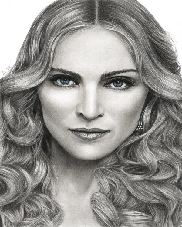 Madonna-Mind Blowing Pencil Art