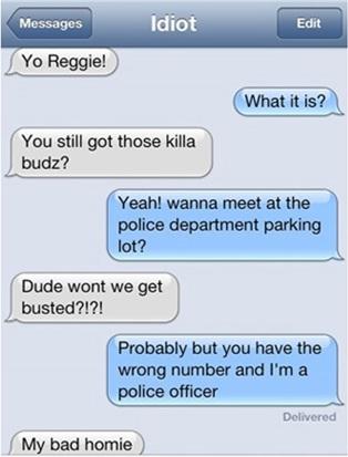 A bad wrong number-Hilarious Wrong Number Replies