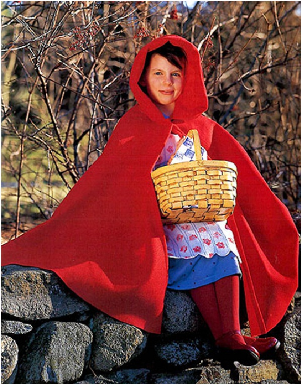 Little Red Riding Hood-Homemade Halloween Costumes For Kids