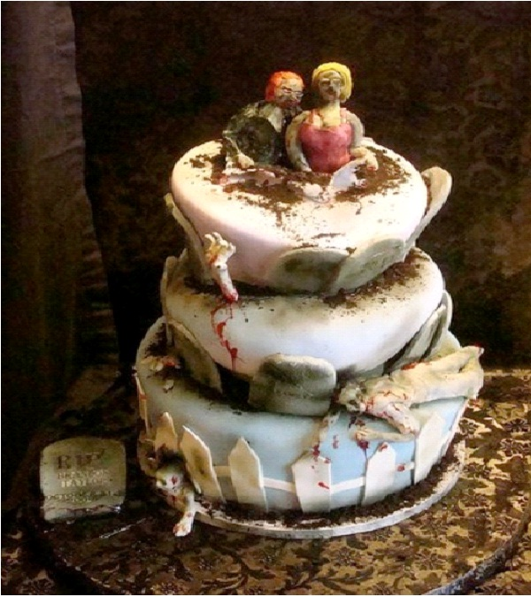It's A Long Way To The Top-Amazing Zombie Wedding Cakes