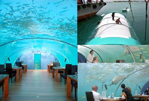 Ithaa Undersea Restaurant - Rangali Island, Maldives-Unusual And Unbelievable Underground Places