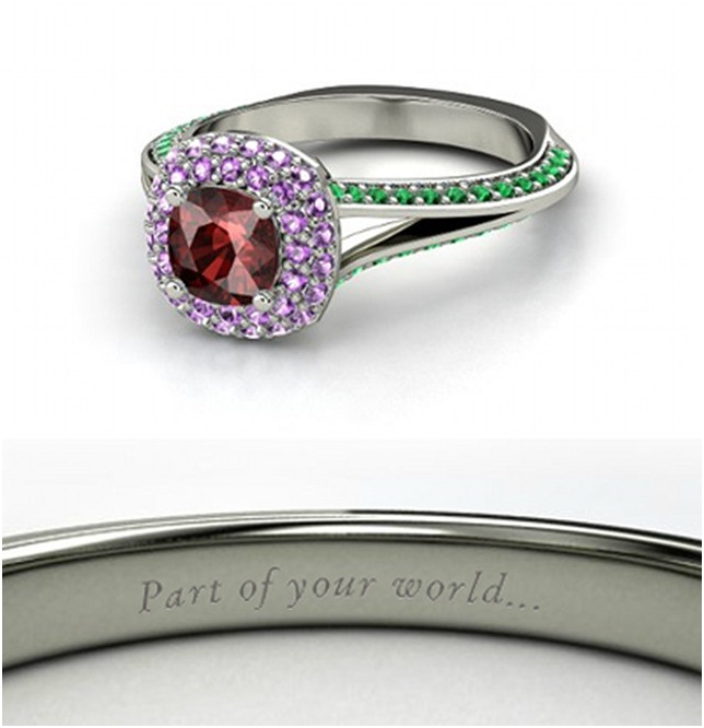 Ariel Ring-Disney Engagement Rings