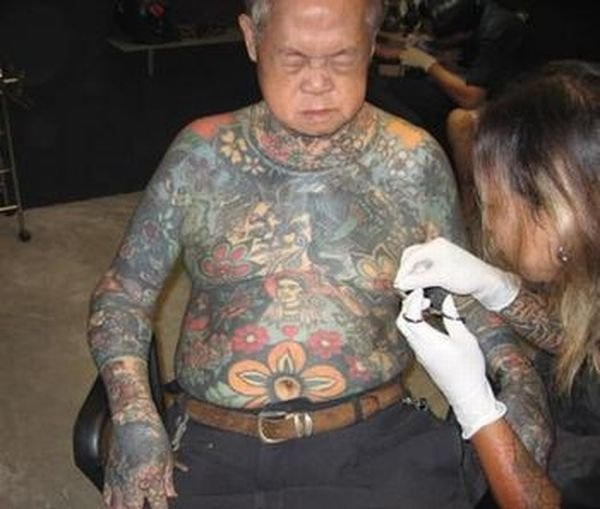 Japanese Culture-Old People With Tattoos