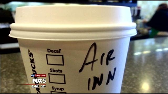 Air inn what?-Funny Starbucks Cup Spelling Fails