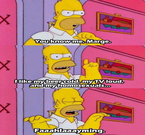 Homosexuals-Best Simpsons Quotes