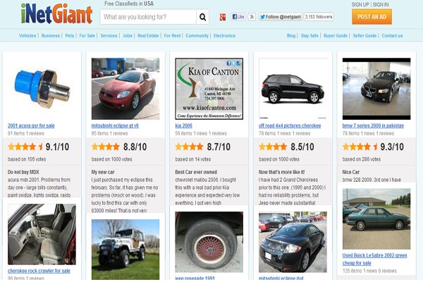 Inetgiant.com-Best Free Classifieds Websites