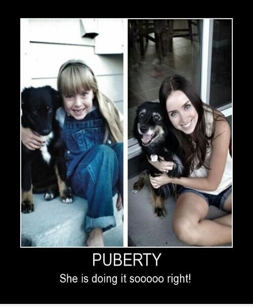 Even the dog changed-15 Images That Show Puberty Doing It Right