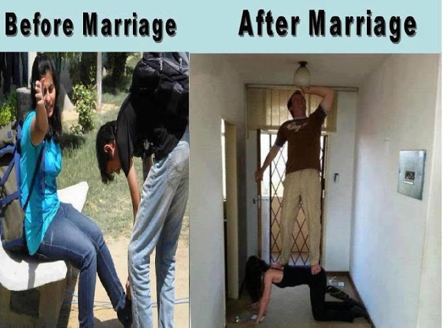 This Is How It Works-12 Hilarious Before And After Marriage Pictures