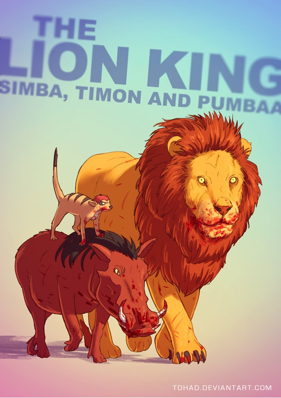 The Lion King-Classic Childhood Characters In Evil Form
