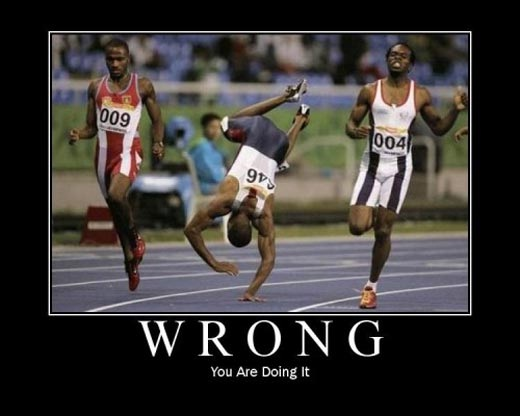 """You Are Faster On Your Feet-Hilarious """"you Are Doing It Wrong"""" Pics"""