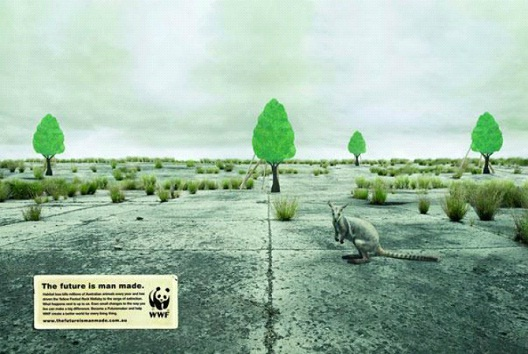 Man Made Trees Are Not Natural-24 Creative WWF Ads