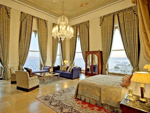 Ciragan Palace Kempinski, Istanbul - Sultan's Suite - $15,332-Most Expensive Honeymoon Destinations In The World