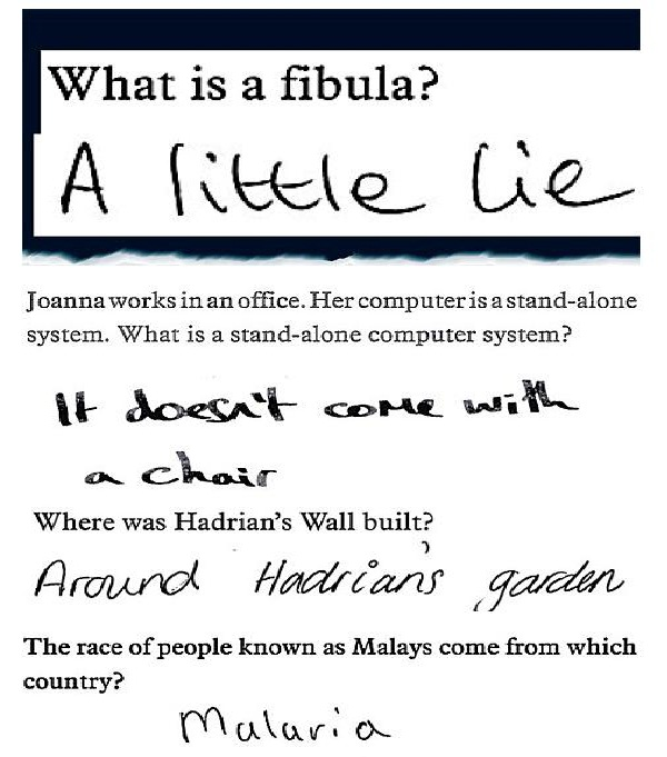 Great stuff-Funny Exam Answers