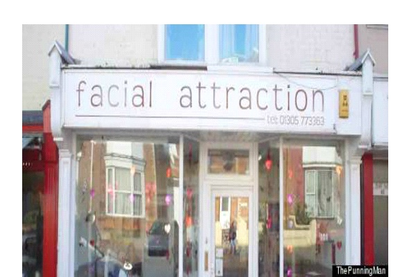 Facial Attraction-Most Inappropriate Store Names