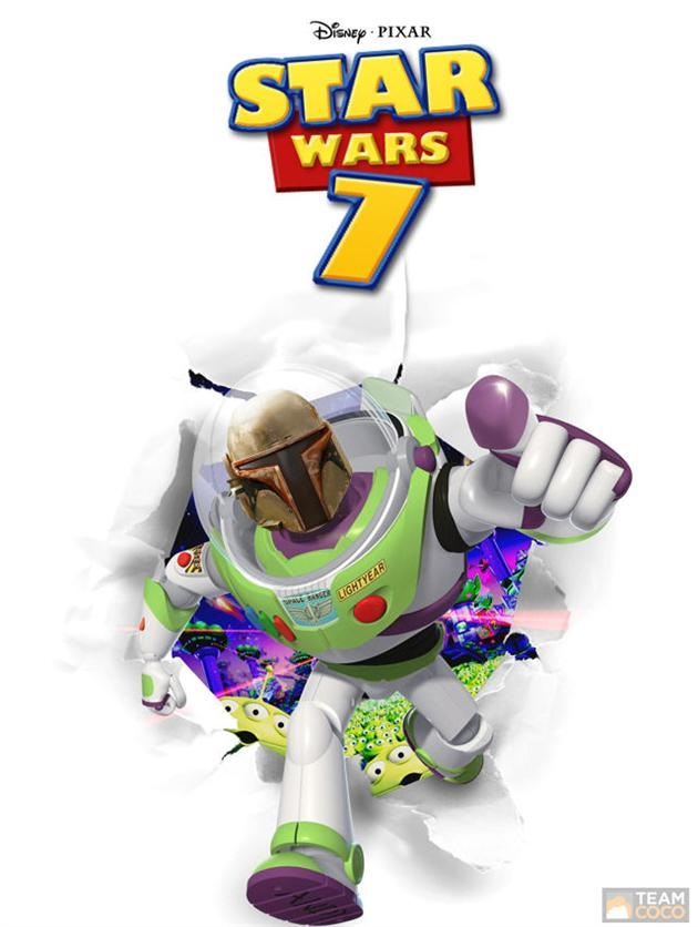 Buzz is taking the lead-Disney Characters In Star Wars Theme